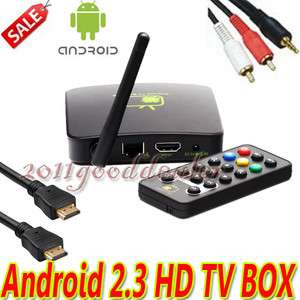 Full HDTV /WMA Android 2.3 Internet TV Box A9 WIFI Media Player