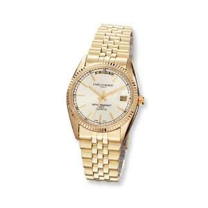 Mens Charles Hubert 14k Gold plated Champagne Dial Watch Jewelry