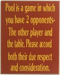 0360 POOL A GAME WITH 2 OPPONENTS THE PLAYER & TABLE
