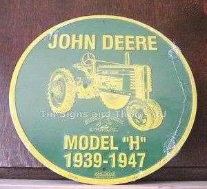 John Deere Aluminum Round Sign Model tractor vintage