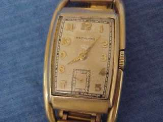 Vintage Hamilton 14K Gold Filled Mens Watch