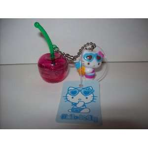 Hello Kitty Cherry Shaped Lip Gloss Keychain with Pendant
