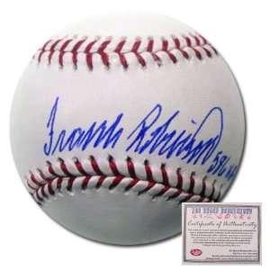 Frank Robinson Cincinnati Reds Hand Signed Rawlings MLB Baseball with