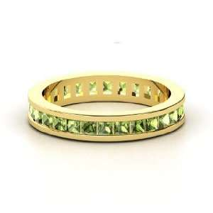 Brooke Eternity Band, 14K Yellow Gold Ring with Green