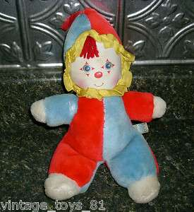 VINTAGE AMTOY CLOWN BABY SOFT TOUCH 1982 RATTLES PLUSH