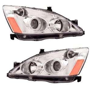 2003 2005 Honda Accord KS Chrome Halo Projector Headlights