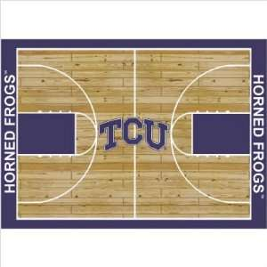 College Court TCU Horned Frogs Rug Size 7 8x10 9