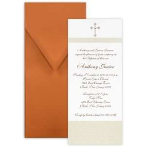 Contemporary Dots II Boy Baptism Christening Invitation   Set of 20