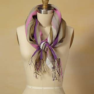 Purple & Green Sheer Silk Stole   Fair Trade Winds: Scarves, Wraps