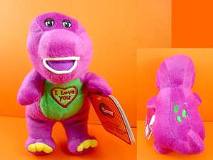 Barney 9.5 Sing I LOVE YOU song Plush Soft Toy Doll