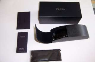 NEW PRADA SUNGLASSES SPR 65H 1BO 1A1 BLACK GRAY 65HS AUTHENTIC