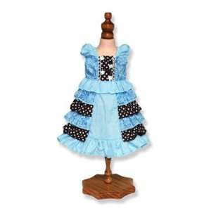Ruffled Party Dress, Fits 18 American Girl Dolls Toys