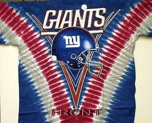 NEW YORK GIANTS NFL FOOTBALL 2 SIDED TIE DYE T SHIRT NEW