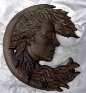 Moon Lady Wall Decor Plaque Hanging Sun Woman God Home Garden