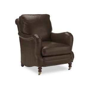 Williams Sonoma Home Drew Chair, Leather, Chocolate