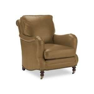 Williams Sonoma Home Drew Chair, Leather, Saddle
