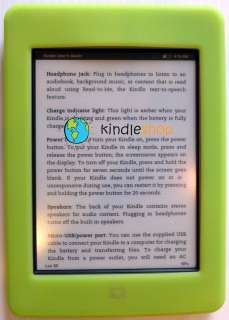 Kindle TOUCH GREEN Silicone Gel Skin Case Cover 3G Wifi New