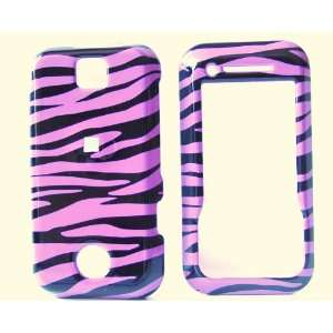 New Purple Black Zebra Stripe Motorola Rival A455 Snap on