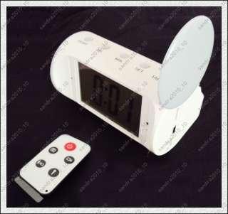 Functional Digital Motion Detection Table Clock Spy Camera DVR White