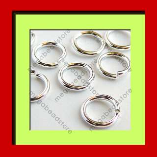 8mm 18 Gauge Sterling Silver Open Jump Rings F29 10 pcs