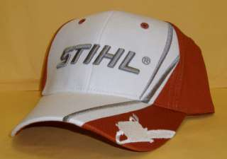 STIHL White/Burnt Orange Farm Boss Cap Hat 1sz 8401007
