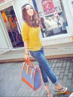 Women Vintage Canvas Tote Crossbody Shoulder Bag #610