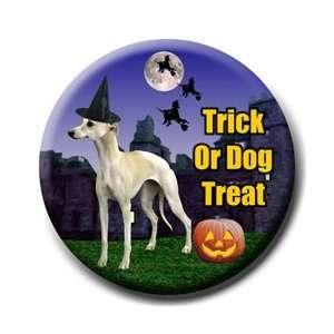 Whippet Halloween Pin Badge Button
