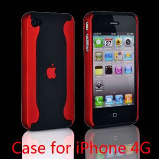 Best New Red 2 Piece Matte Chrome Hard Case Cover For Apple iPhone 4