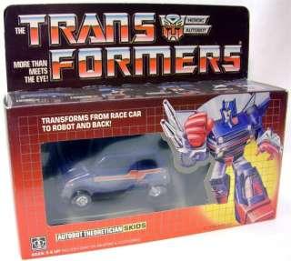 1984 Vintage Autobot Skids Transformer G1 100% Complete