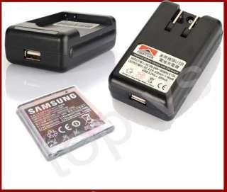USB Seat+wall travel Charger+Battery 4 samsung GALAXY S I9000 Vibrant