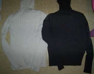30. The Limited Black turtle neck sweater   Size Medium