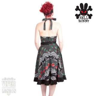 New HELL BUNNY Polka Dot Kiss Me Kate Dress 8/XS 16/XL