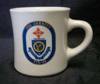 Art USS Jarrett FFG 33 United States Navy Ship Coffee Cup Mug