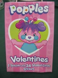 POPPLES VALENTINES 35 STUDENT CARDS & STICKERS NEW NIB