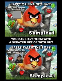 ANGRY BIRDS VALENTINES DAY CARDS *DISCOUNTS AVALIABLE! WITH FREE