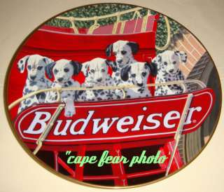 Budweiser DALMATIANS SIX PACK Best Friend Plate MIB/COA