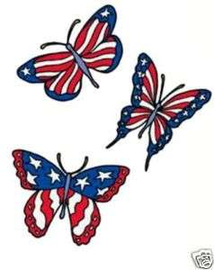 Red White & Blue Butterfly SML 6x & Plus Size T Shirt