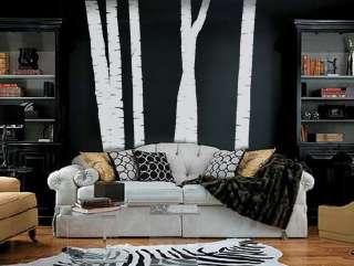 ft. TALL BIRCH TREES   Vinyl Wall Art Decals