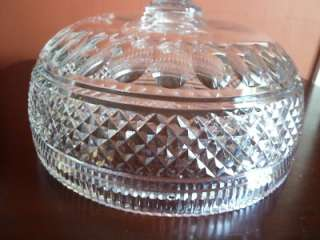 WATERFORD CUT CRYSTAL PEDESTAL FOOTED CENTERPIECE VERY LARGE BOWL