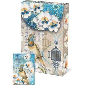 Punch Studio Pouch Note Cards  #57939 Birds & Blossom