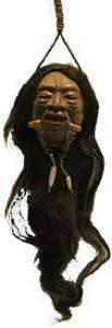 Shrunken Head Munduruca Brazil Voodoo Tribal Tsantsa