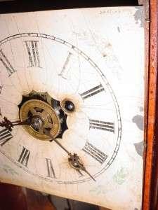 Antique Ansonia Cottage Kitchen Alarm Reverse Glass