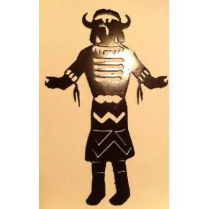 Tribal Kachina 10 Inch Ornament or Wall Decor Metal Art Everything