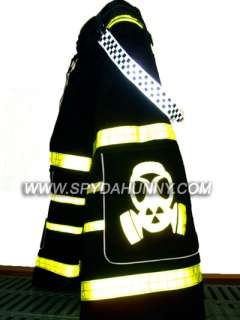 Spydahunny Rave Toxic Gas Mask PHAT PANTS w/ FREE Plain Suspenders