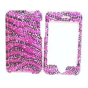 New Pink Black Zebra Stripe Sparkling Rhinestones Full
