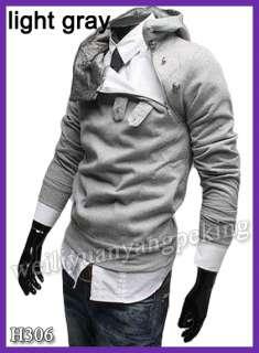 New Mens Slim Fit Sexy Top Designed Cotton Hoody Hoodie Hooded Jacket
