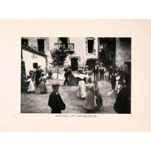 1912 Halftone Print Escaldas Les Escaldes Andorra Costume