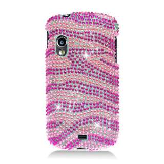 NEW HOT PINK ZEBRA RHINESTONE HARD COVER FOR SAMSUNG STRATOSPHERE i405