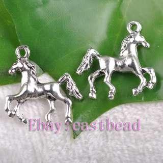 FREE SHIP 120pcs Tibetan Silver Horse Charms EP6587