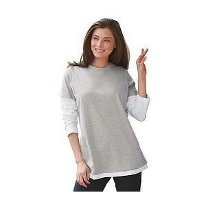 plus size tees . With easy pullover styling , double needlework at